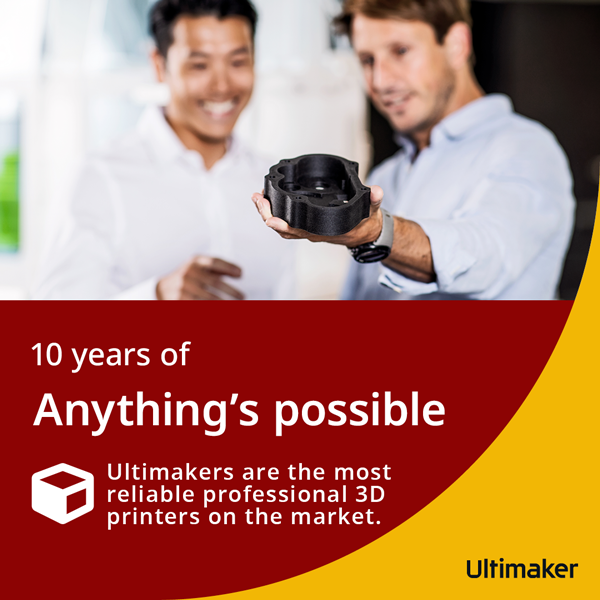 Ultimakers are the most reliable professional 3D printers on the market.