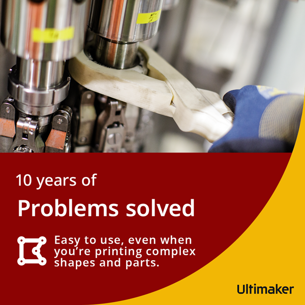 Easy to use, even when you're printing complex shapes and parts.