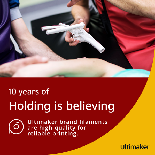 Ultimaker brand filaments are high-quality for reliable printing.
