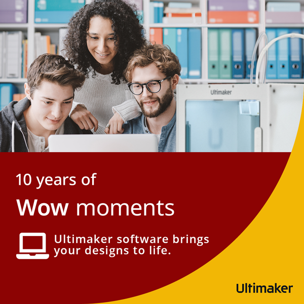 Ultimaker software brings your designs to life.